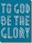 To God Glory