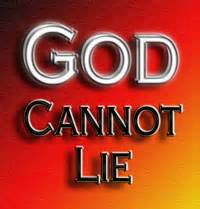 god can not lie