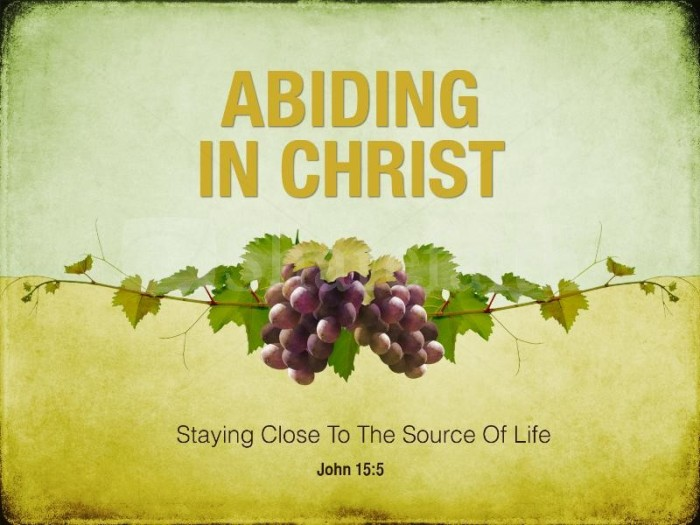 ABIDING IN JESUS